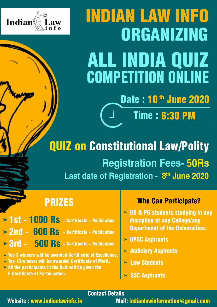 All India Quiz Competition on Constitutional Law